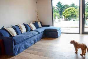 sofaonline - sofa modular a medida con puf independiente Ana y tela Jessie 30