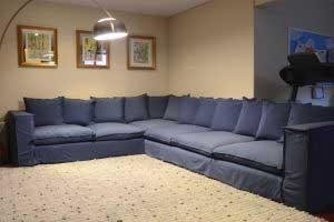 sofaonline - sofa modular a medida Luisa con tela Piedad azul