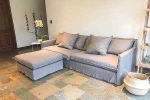 sofaonline - sofa modular a medida Ana con puf independiente y tela Lily 127