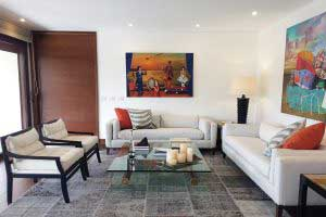 sofaonline - sofa a medida Ema con tela de lino caribe hueso