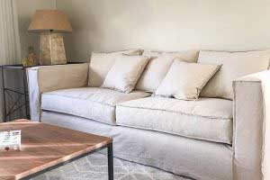 sofaonline - sofa a medida Florencia con tela de lino color hueso