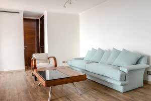 sofaonline - sofa a medida Matilde con tela de lino mediterraneo celeste