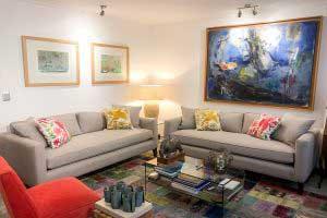 sofaonline - sofa a medida Paula con tela Tipolino gris