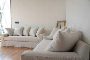 sofaonline - sofa a medida Amanda con tela de lino caribe hueso