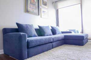 sofaonline - sofa modular a medida Andrea con tela velvet azul