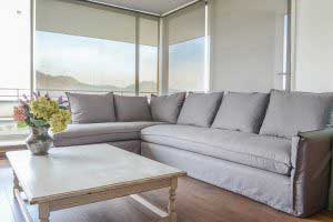 sofaonline - sofa modular a medida Emilia con tela Linopoly gris
