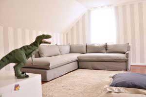 sofaonline - Sofa modular a medida Emilia con tela de Gabardina gris