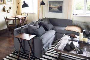sofaonline - Sofa modular a medida Emilia con tela de lino caribe gris