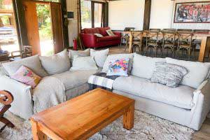 sofaonline - sofa modular a medida Emilia con tela de lino color hueso