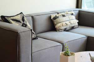 sofaonline - Sofa modular a medida Gracia con tela de lino caribe gris