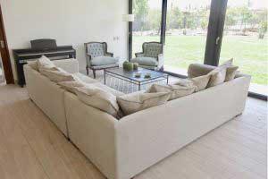 sofaonline - sofa modular a medida Luisa con tela de lino caribe legiado