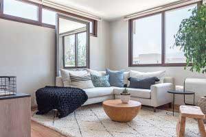 sofaonline - sofa modular a medida Pili con tela de lino color hueso