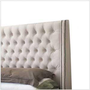 sofaonline - Respaldo para cama de capitone con tachas