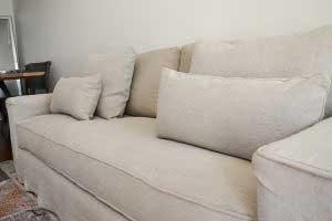 sofaonline - sofa a medida Mariana con tela de lino caribe hueso