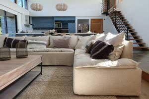 sofaonline - sofa modular a medida Olivia con tela de lino color hueso