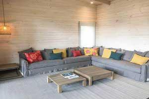 sofaonline - sofa modular a medida Colomba con tela de lino gris