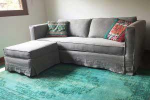 sofaonline - sofa modular a medida con puf independiente Clara y tela Vera 49