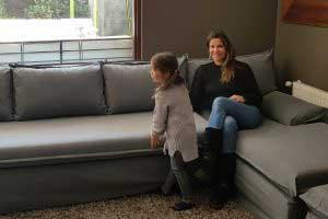 sofaonline - foto de cliente en su sofa modular a medida