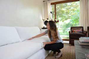 sofaonline - sofa modular a medida Elvira con tela de lino color hueso