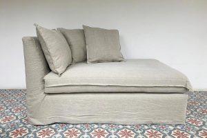 sofa a medida - chaise lounge - paz- con funda