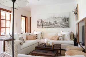 sofaonline - sofa modular a medida Candelaria con tela de lino crudo