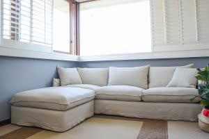 sofaonline - sofa modular a medida con puf independiente Ana y tela Div 32