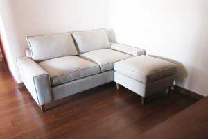 sofaonline - Sofa a medida Cata con tela de lino legiado mediterraneo