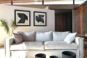 sofaonline - sofa a medida Florencia con tela de lino caribe hueso