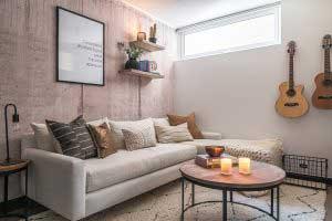 sofaonline - sofa modular a medida Andrea con tela de lino color hueso