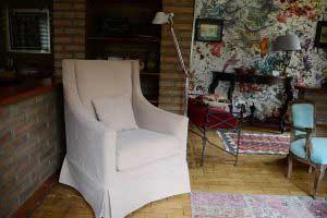 sofanline - Sillon Vicente con tela Jenny 101