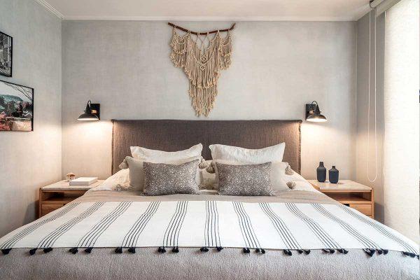sofaonline - respaldo para cama con funda de pestaña simple en tela de lino