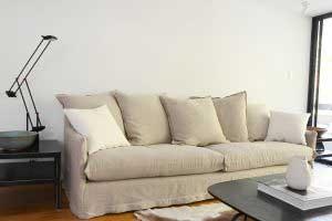 sofaonline - sofa a medida Guadalupe con tela de lino caribe legiado