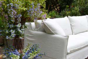 sofaonline - sofa a medida Guadalupe con tela de lino caribe hueso