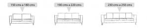 sofaonline - Detalle de medidas para sofas