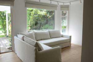 sofaonline - sofa modular a medida Eugenia con tela de lino color hueso