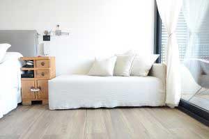 sofaonline - sofa a medida tipo chaise longue Luz con tela de lino